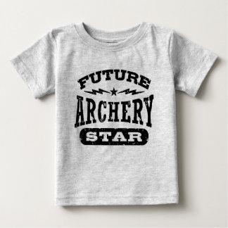Camiseta Para Bebê Estrela futura do tiro ao arco