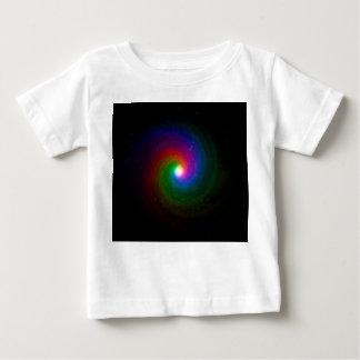 Camiseta Para Bebê Estrelas coloridas que rodam para um centro