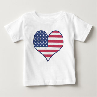 Camiseta Para Bebê Estrelas da bandeira dos Estados Unidos dos EUA do