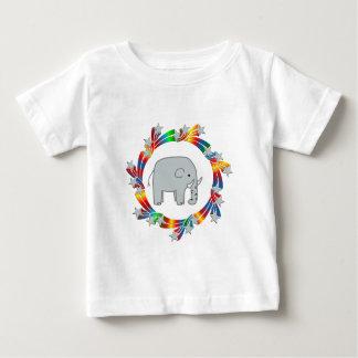 Camiseta Para Bebê Estrelas do elefante