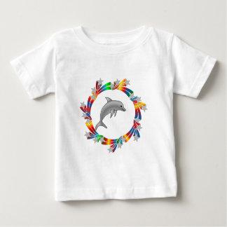 Camiseta Para Bebê Estrelas do golfinho