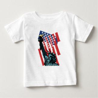 Camiseta Para Bebê Estrelas, listras e liberdade