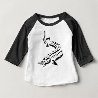 Camiseta Para Bebê Esturjão tribal - beluga de Huso
