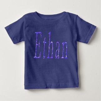 Camiseta Para Bebê Ethan, nome, logotipo, t-shirt do azul dos bebés