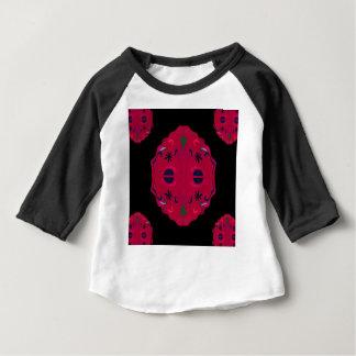 Camiseta Para Bebê Ethno vermelho selvagem das mandalas