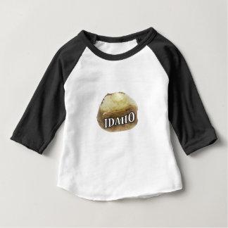 Camiseta Para Bebê Etiqueta da batata de Idaho