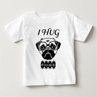 Camiseta Para Bebê eu abraço pugs