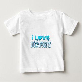Camiseta Para Bebê Eu amo a história