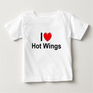 Camiseta Para Bebê Eu amo as asas quentes do coração