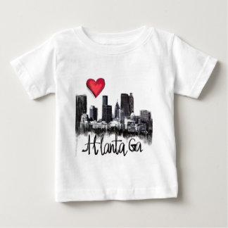 Camiseta Para Bebê Eu amo Atlanta