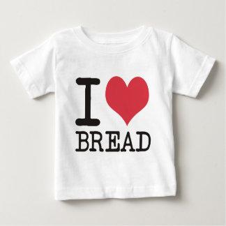 Camiseta Para Bebê Eu amo bananas - maçãs - produtos & design do pão