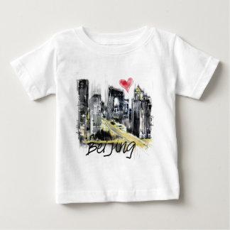 Camiseta Para Bebê Eu amo Beijing