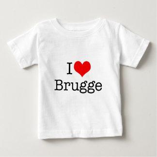Camiseta Para Bebê Eu amo Bruges