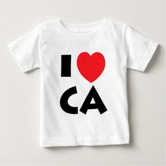Camiseta Para Bebê Eu amo Califórnia