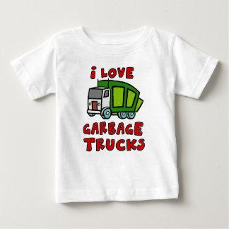Camiseta Para Bebê EU AMO CAMINHÕES DE LIXO!! Caminhões de lixo para