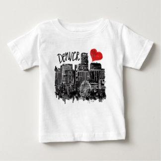 Camiseta Para Bebê Eu amo Denver