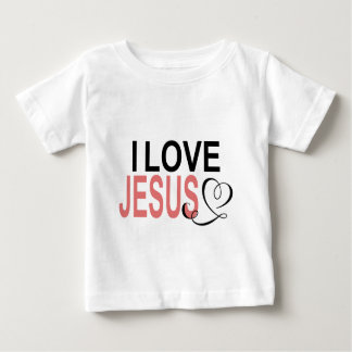 Camiseta Para Bebê Eu amo Jesus