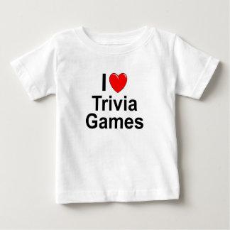 Camiseta Para Bebê Eu amo jogos da trivialidade do coração