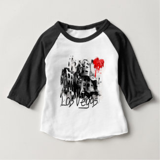 Camiseta Para Bebê Eu amo Las Vegas