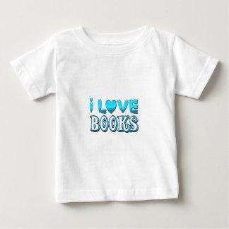 Camiseta Para Bebê Eu amo livros