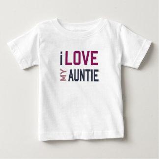 Camiseta Para Bebê Eu amo meu Auntie