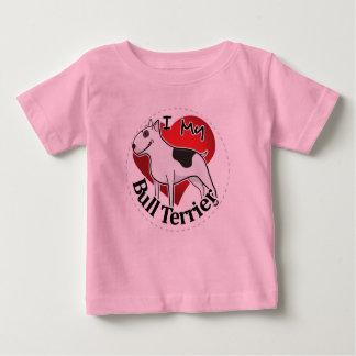 Camiseta Para Bebê Eu amo meu bull terrier engraçado & bonito