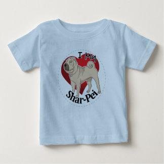 Camiseta Para Bebê Eu amo meu cão engraçado & bonito adorável feliz