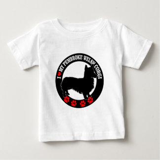 Camiseta Para Bebê eu amo meu corgi de galês