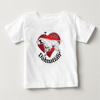 Camiseta Para Bebê Eu amo meu Dalmatian engraçado & bonito adorável