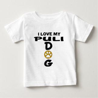 Camiseta Para Bebê Eu amo meu design do cão de Puli