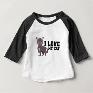 Camiseta Para Bebê Eu amo meu gato