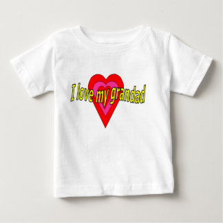 Camiseta Para Bebê Eu amo meu grandad