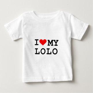 Camiseta Para Bebê Eu amo meu lolo. É mais divertimento nas