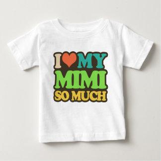 Camiseta Para Bebê Eu amo meu Mimi tanto