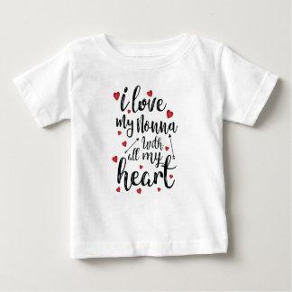 Camiseta Para Bebê Eu amo meu Nonna com todo o meu coração