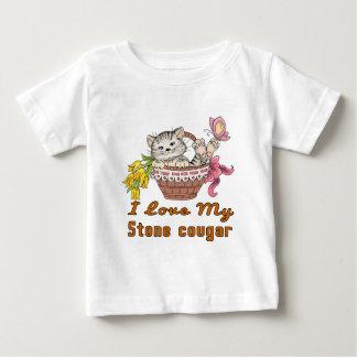 Camiseta Para Bebê Eu amo meu puma de pedra