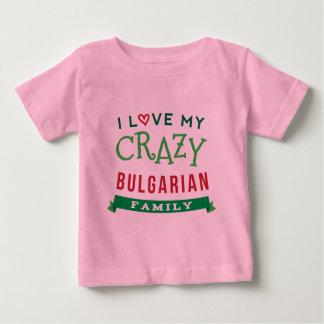 Camiseta Para Bebê Eu amo meu t-shirt búlgaro louco da reunião de
