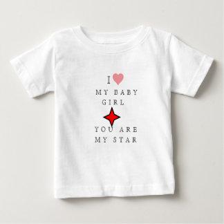 Camiseta Para Bebê EU AMO MEU t-shirt do BEBÉ