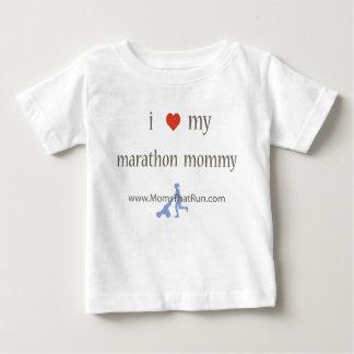 Camiseta Para Bebê eu amo meu t-shirt unisex das mamães da maratona