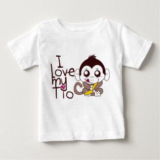 Camiseta Para Bebê Eu amo meu Tio
