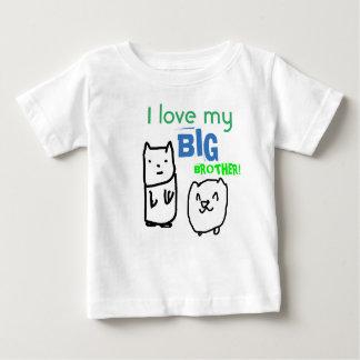 Camiseta Para Bebê Eu amo meu tshirt do big brother
