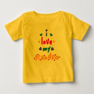 Camiseta Para Bebê eu amo meu vovô