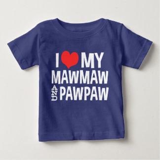 Camiseta Para Bebê Eu amo meus MawMaw e PawPaw