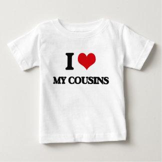Camiseta Para Bebê Eu amo meus primos