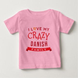 Camiseta Para Bebê Eu amo minha ideia dinamarquesa louca do t-shirt