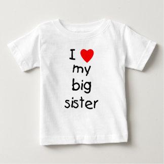 Camiseta Para Bebê Eu amo minha irmã mais velha