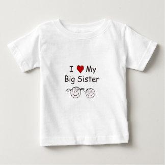 Camiseta Para Bebê Eu amo minha irmã mais velha!