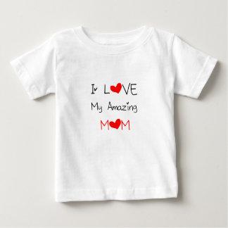 Camiseta Para Bebê Eu amo minha mamã surpreendente