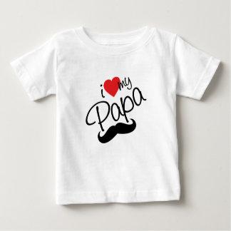 Camiseta Para Bebê Eu amo minha papá