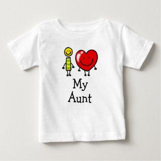 Camiseta Para Bebê eu amo minha tia